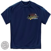 Wicked Fish Striped Bass Fishing T-shirt by , Navy Blue