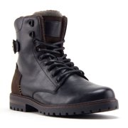 Jazamé Men's B-1911 Steve 8 inch Tall Fashion Military Combat Dress Boots, Black, 9