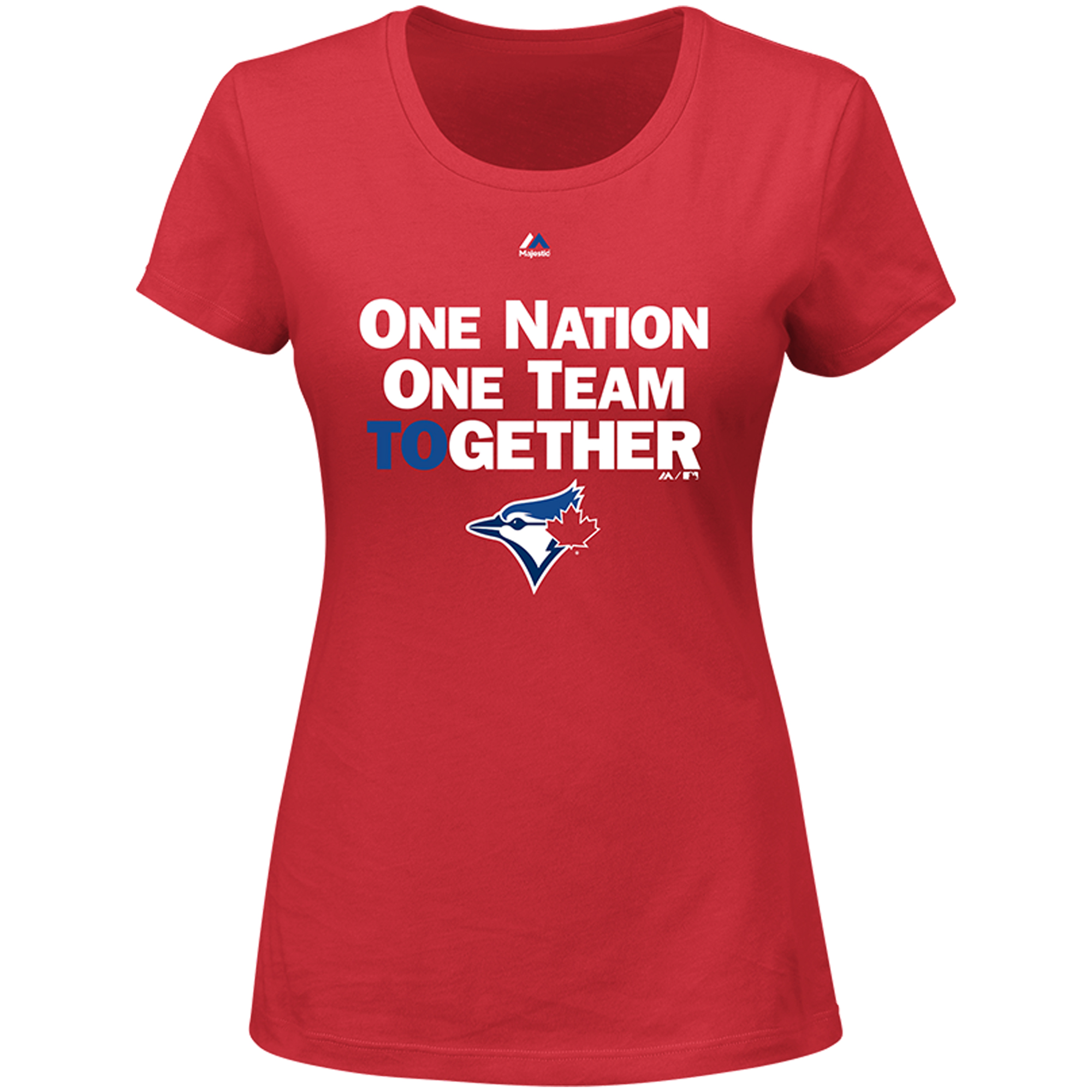 Toronto Blue Jays Majestic Women's One Nation One Team T-Shirt - Red