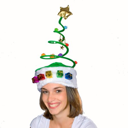 Christmas Tree Coil Spring Hat - Bah Humbug Christmas Hat