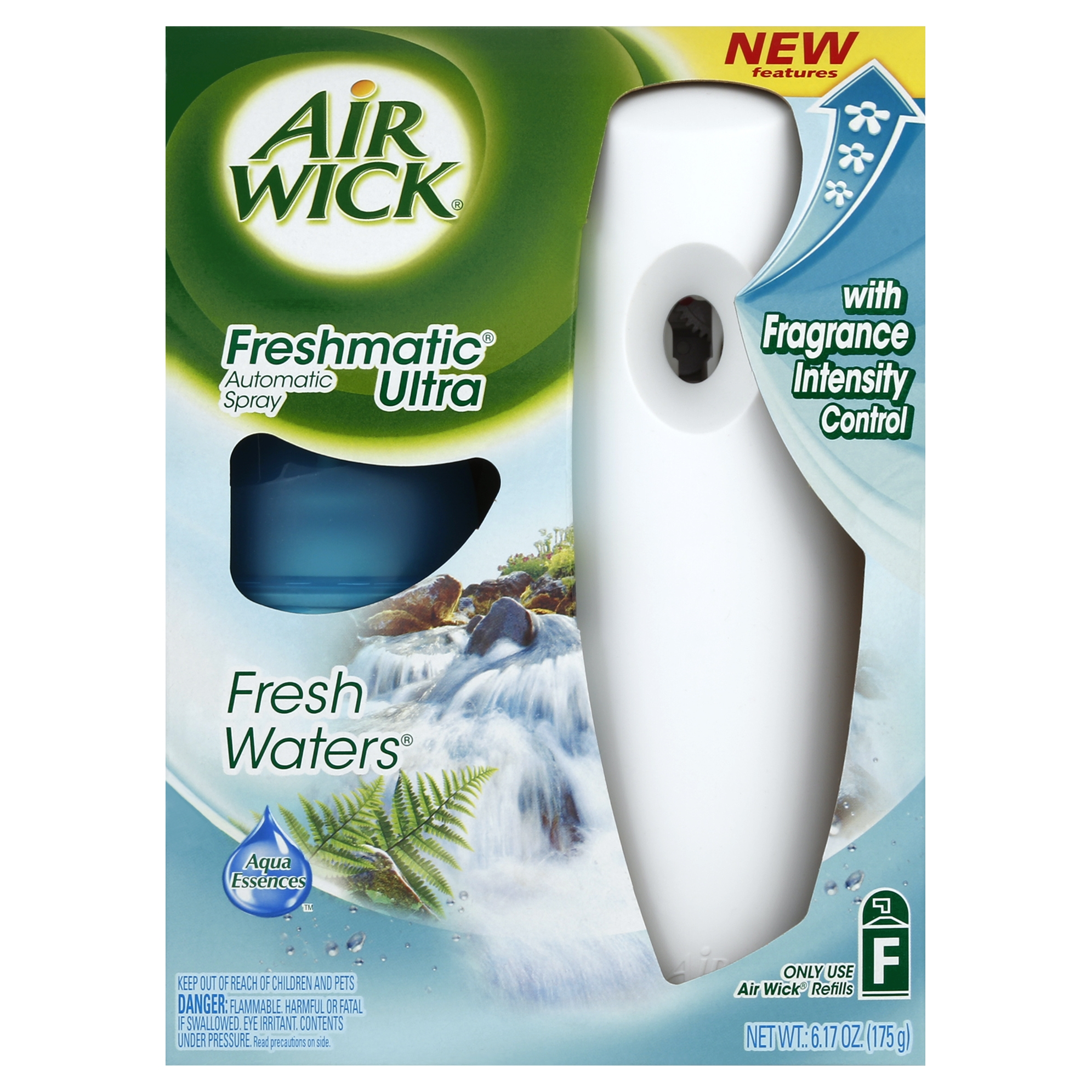 Air Wick Freshmatic Automatic Spray Air Freshener Starter Kit, Fresh Waters  Scent, 1 Count