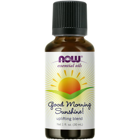 NOW Essential Oils, Good Morning Sunshine Aromatherapy Blend, Soothing Aromatherapy Scent, Blend of Pure Essential Oils, Vegan, Child Resistant Cap, 1-Ounce Oil Blend 180 Caps