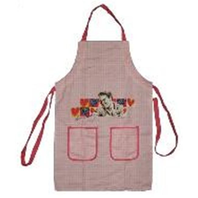Precious Kids 54001 Elvis Presley Kitchen Apron - Pink