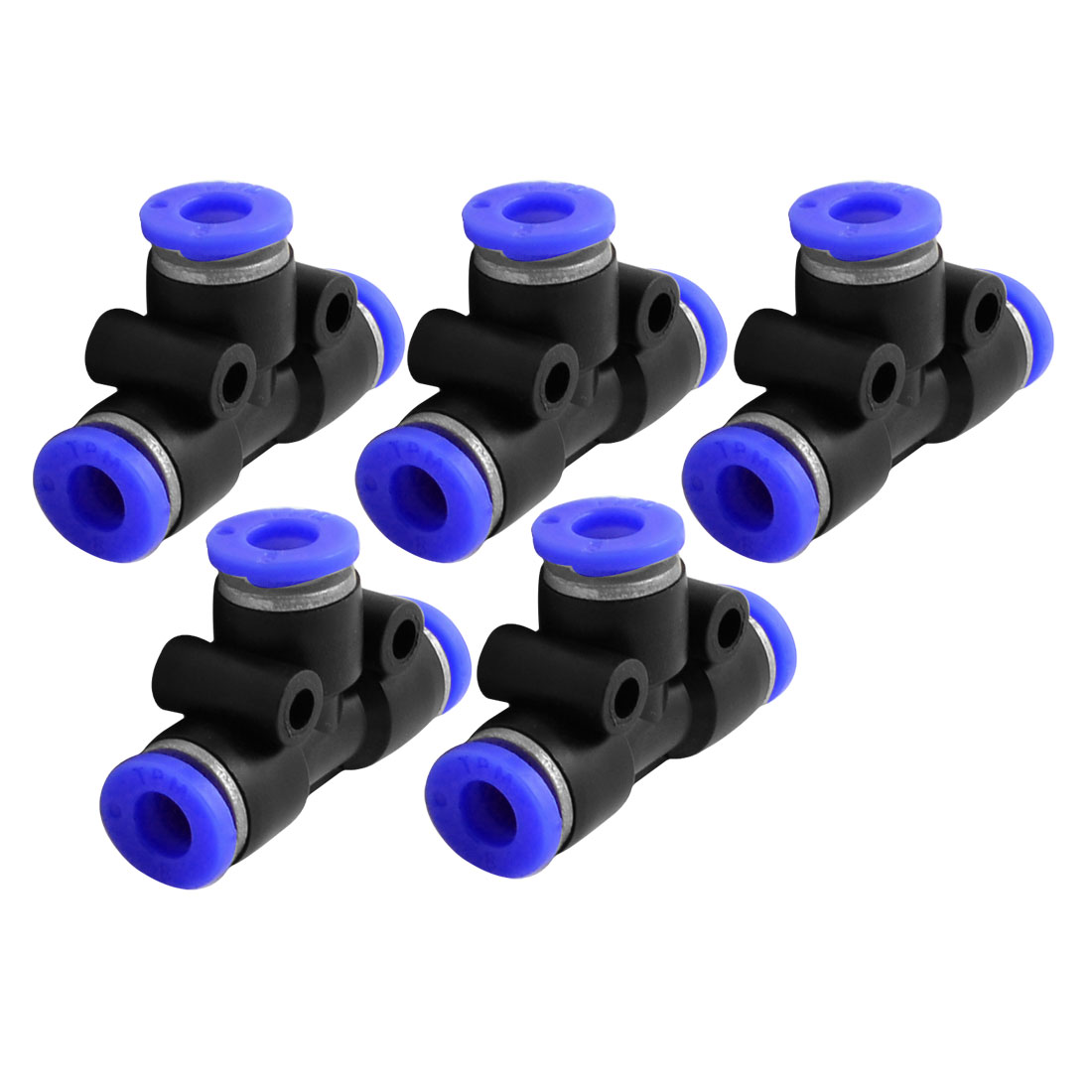 Air Pneumatic 6mm Connector Plastic Pipe Quick Fittings Jointer 5 Pieces
