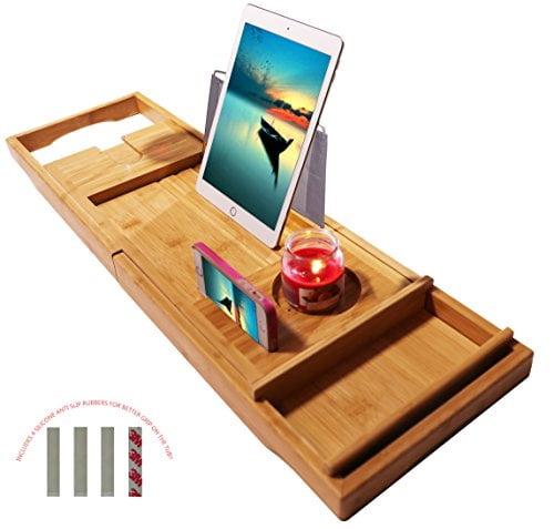 "ADORN Bamboo Bathtub Caddy Bathtub Tray (Expands up to 43"") by Adorn Home Essentials"