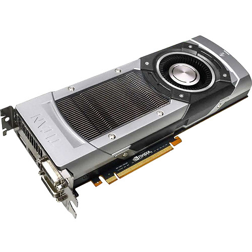 EVGA GeForce TITAN Graphic Card, 837MHz Core, 6GB GDDR5 SDRAM, PCI Express 3.0 x16