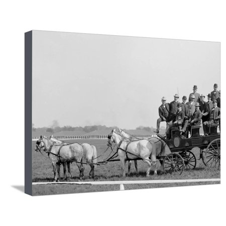 Gov. Beckham and Party at the Races, Derby Day, Louisville, Ky. Stretched Canvas Print Wall Art ()