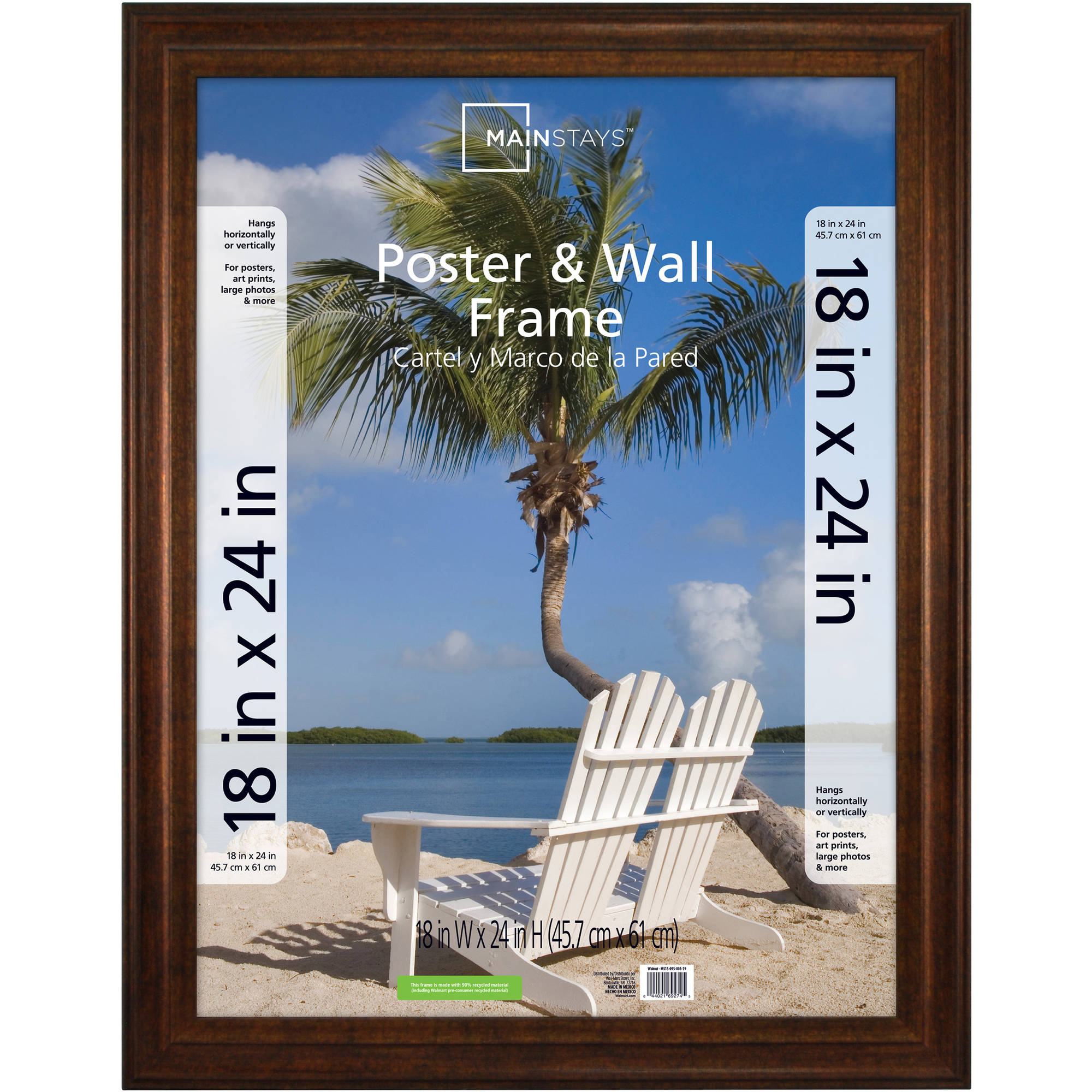 Mainstays Bronze Poster Frame, Available in Multiple Sizes