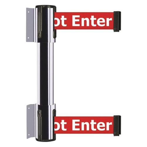TENSATOR 896T2-1P-MAX-RGX-C Belt Barrier, Caution - Do Not Enter