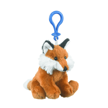 Red Fox Stuffed Animal (Wildlife Tree 4 Inch Red Fox Stuffed Animal Clips for Kids Backpack)