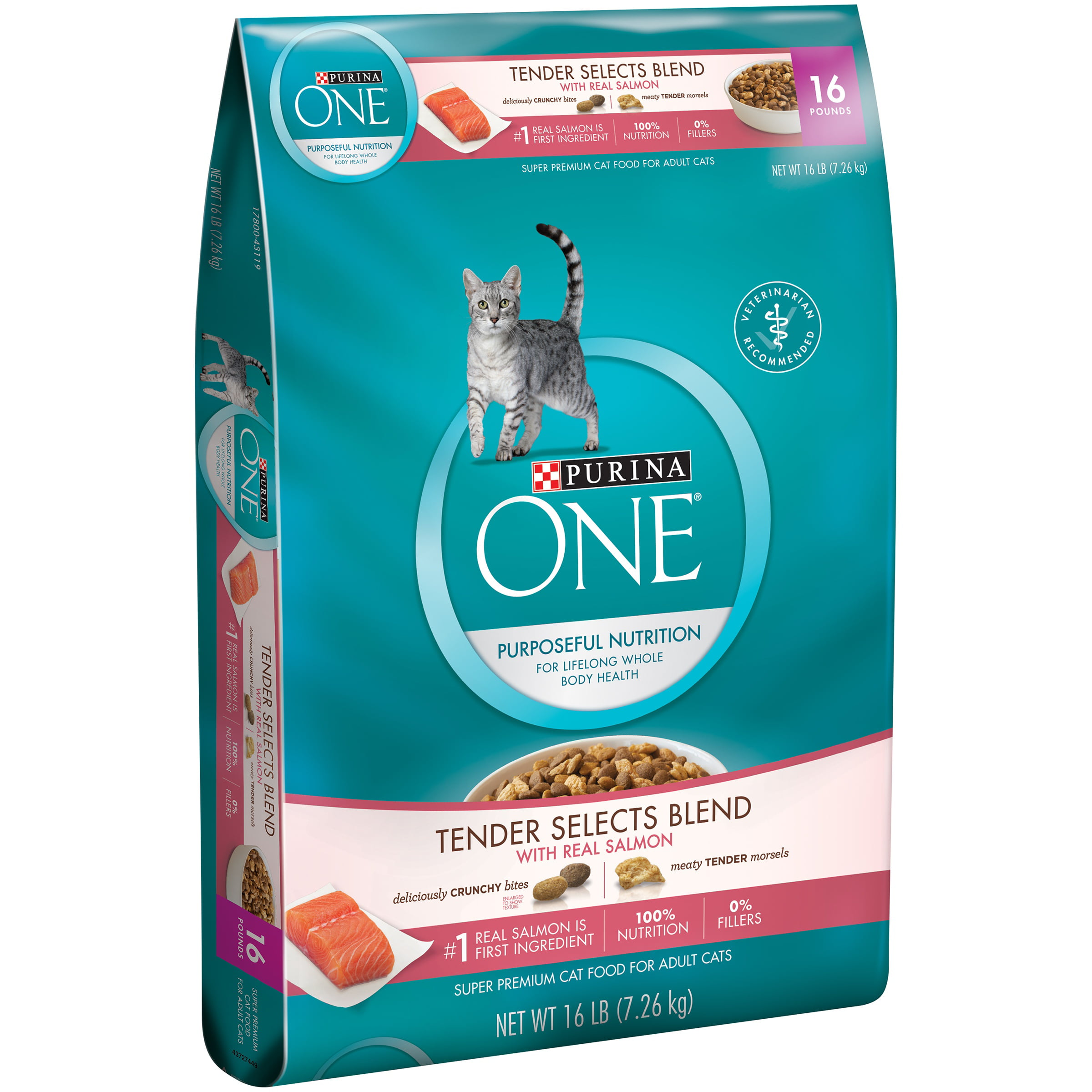 Purina ONE Tender Selects Blend with Real Salmon Cat Food 16 lb. Bag