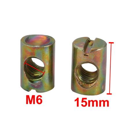 20pcs M6 Fil 15mm haut fer zingué lecteur fente écrous croix - image 1 de 3