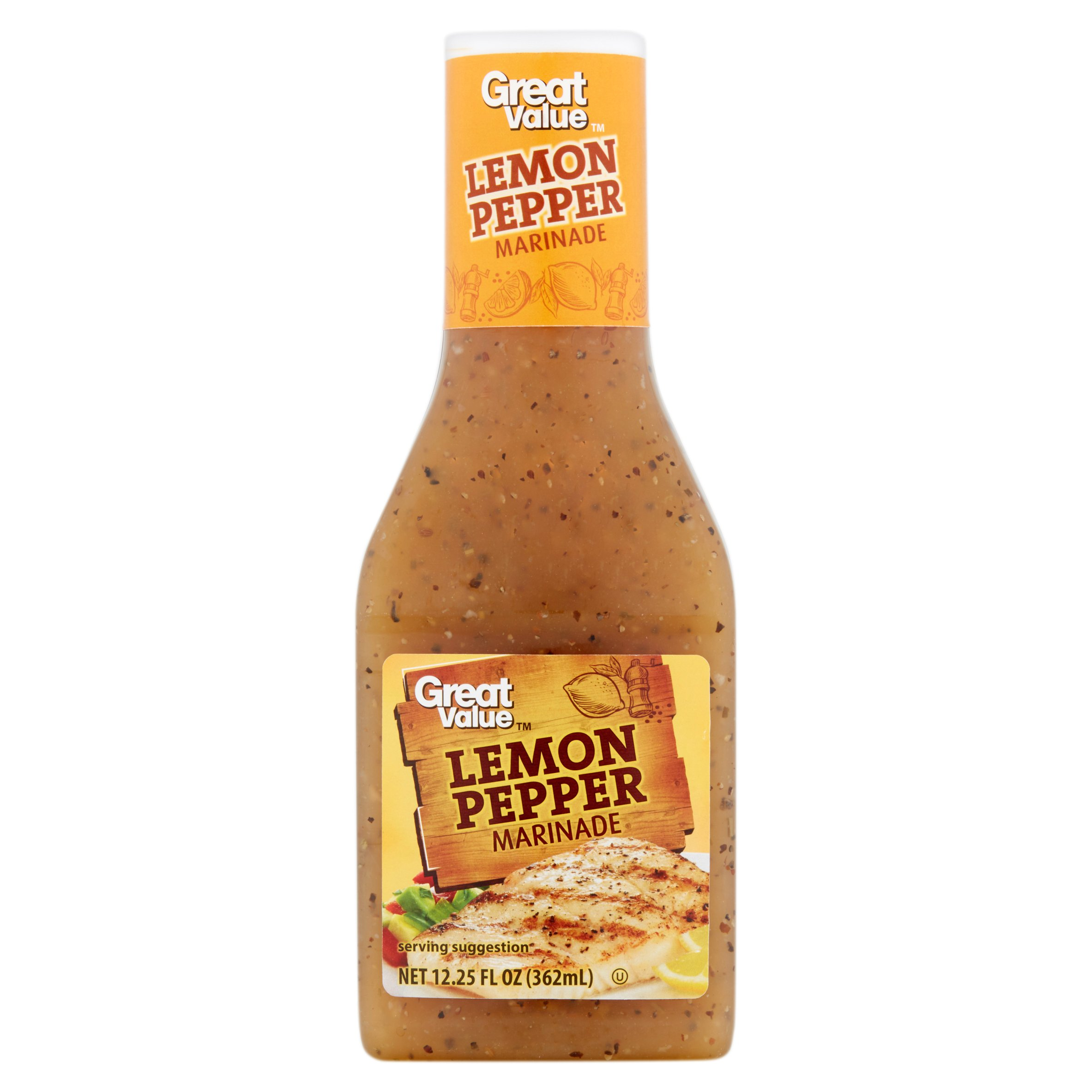 Great Value Lemon Pepper Marinade, 12.25 fl oz