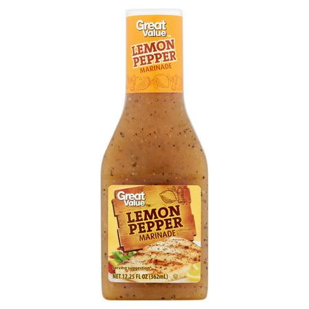 Great Value Lemon Pepper Marinade, 12.25 fl oz - Walmart.com