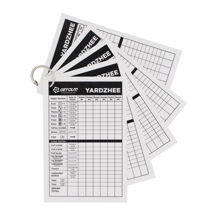 Giant Yard Dice and/or Score Card Sheets – Jumbo Game Dice / Point (Game Score Sheets)