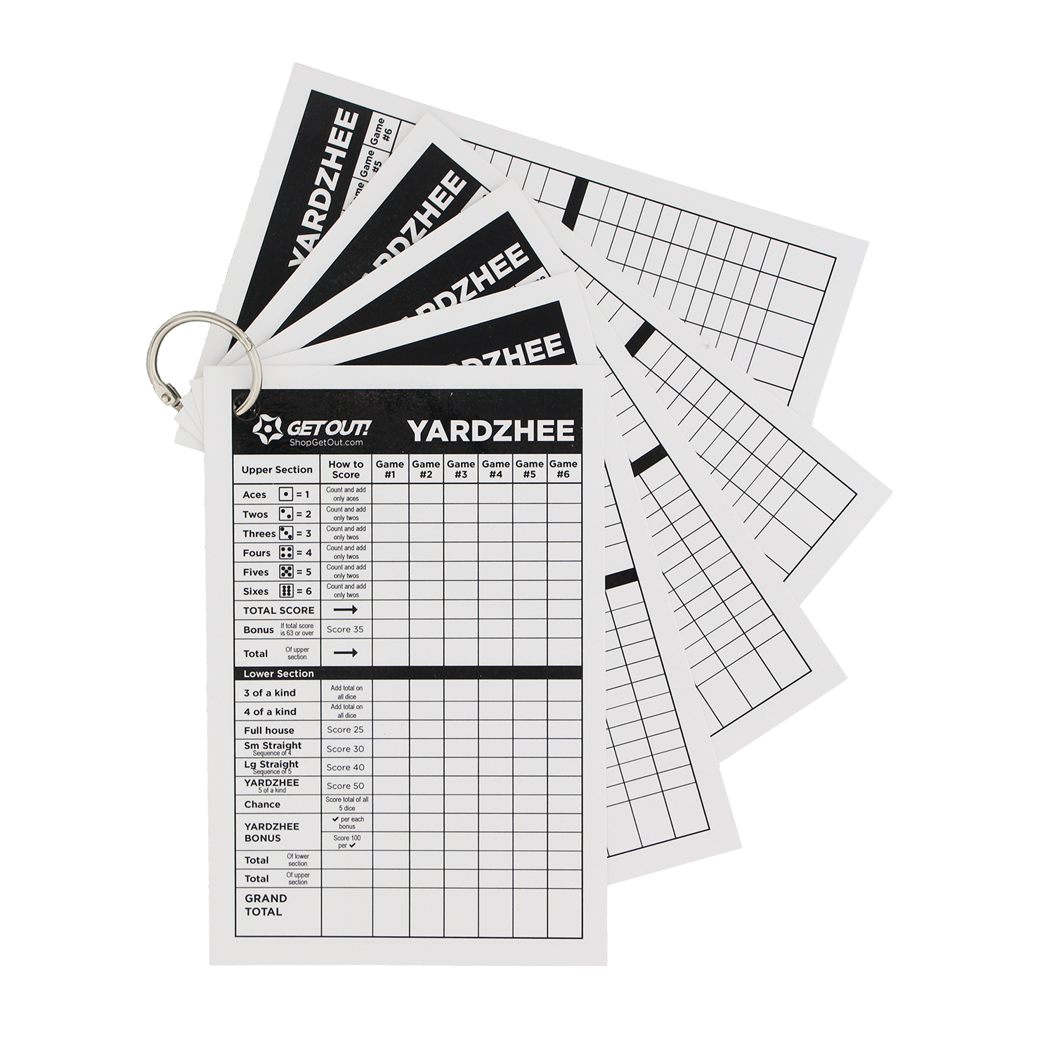 Giant Yard Dice and/or Score Card Sheets – Jumbo Game Dice / Point Pad