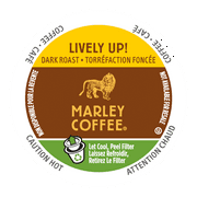 Marley Coffee K-Cup Portion Organic Coffee for Keurig Brewers - Espresso Roast Lively Up
