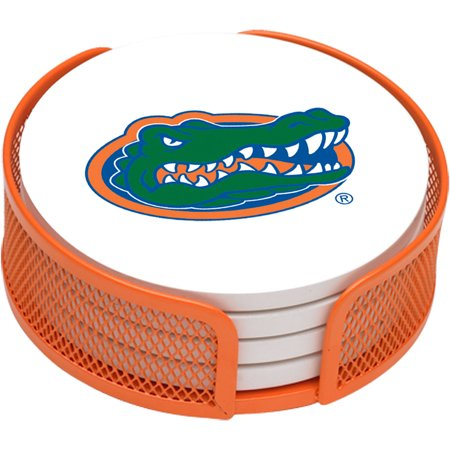 Stoneware Drink Coaster Set with Holder Included, University of Florida - Generic Brand ()