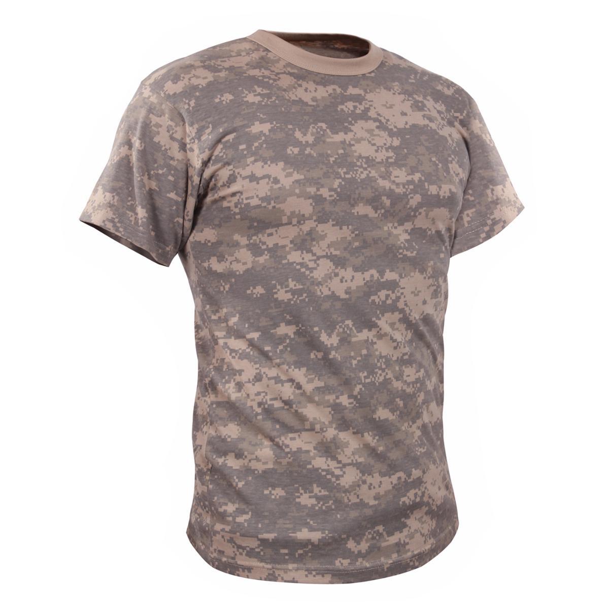 Vintage Styled Camouflage T-shirt, ACU Digital Camo