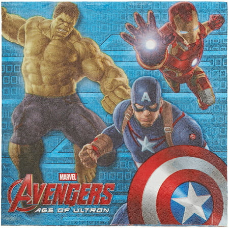 Avengers Lunch Napkins, 16 Count, Party Supplies