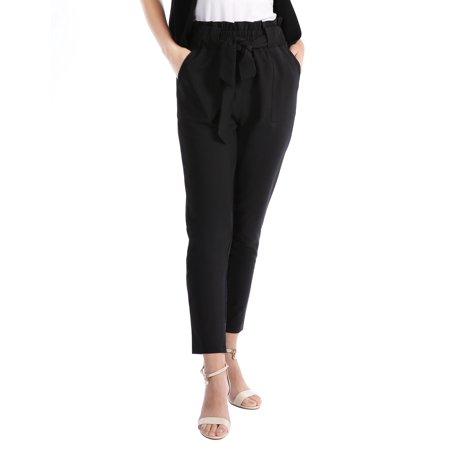 Mgaxyff Women's Casual High Waist Trouser Elastic Waist Pants,women's high waist pantscasual loose elastic trouser for womenspring summer autumn party pantstall wide leg slacks pantsgril