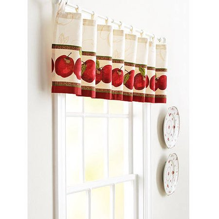 better homes and gardens apples kitchen valance. Black Bedroom Furniture Sets. Home Design Ideas