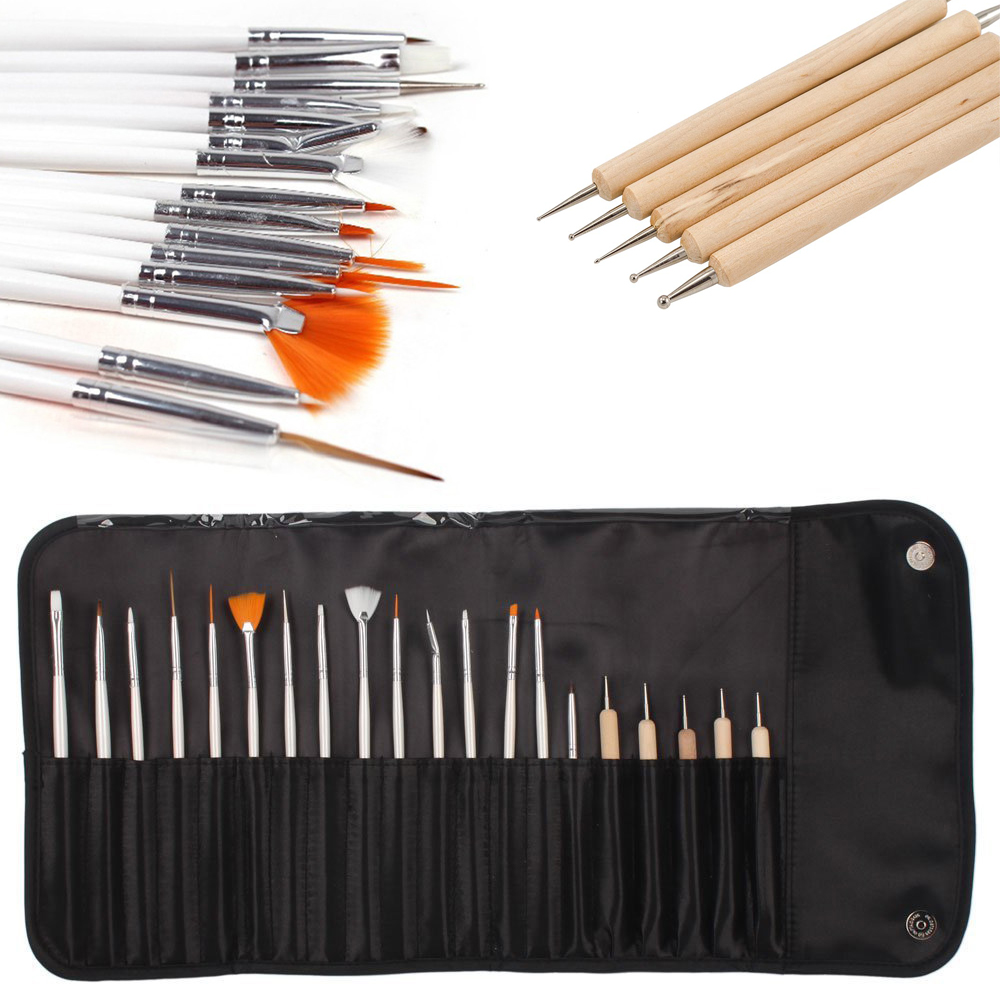iMeshbean 20pcs Nail Art Design Set Dotting Painting Drawing Polish Brush Pen Tools USA