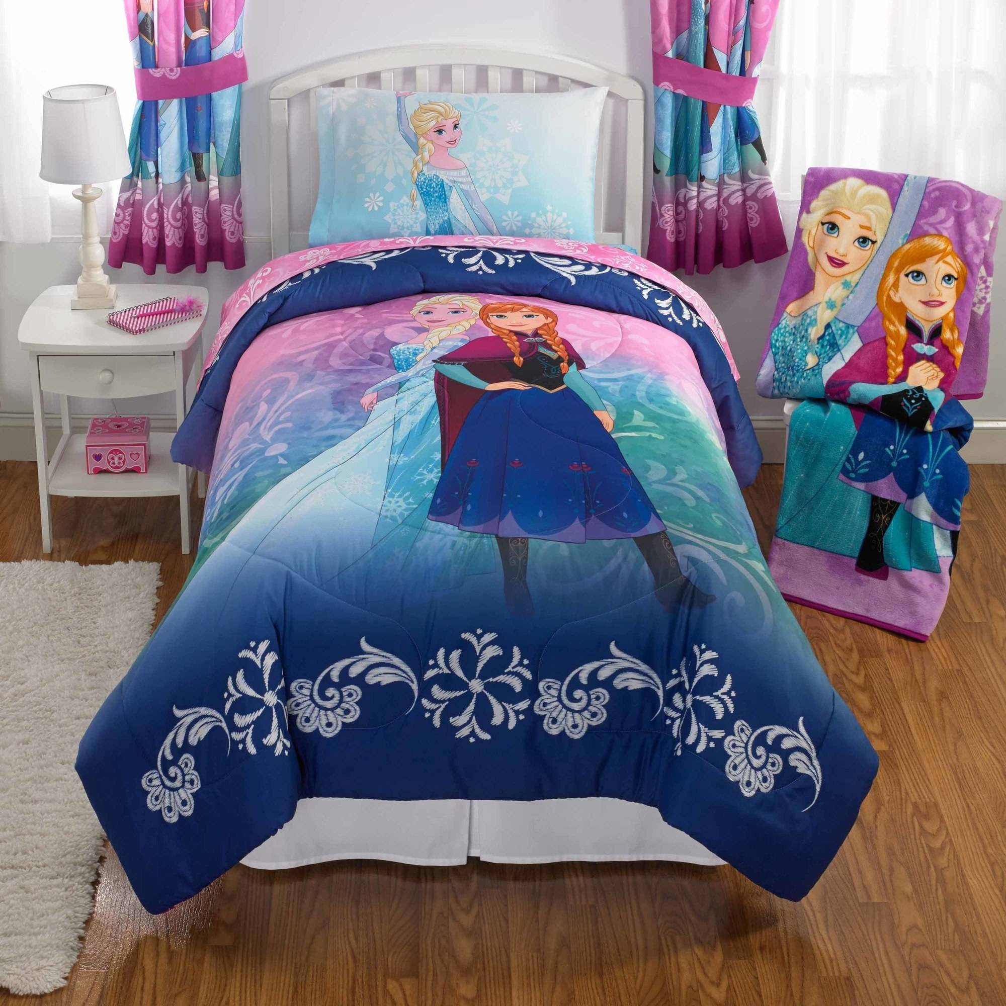 Disney's Frozen Nordic Frost Kid's Bedding Bed in Bag Twin Bedding Set by Franco
