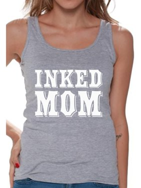 7e83392d4f7e2c Product Image Awkward Styles Inked Mom Tank Top for Women Tattooed Mom Tank  Top Women s Tatted Sleeveless Shirt