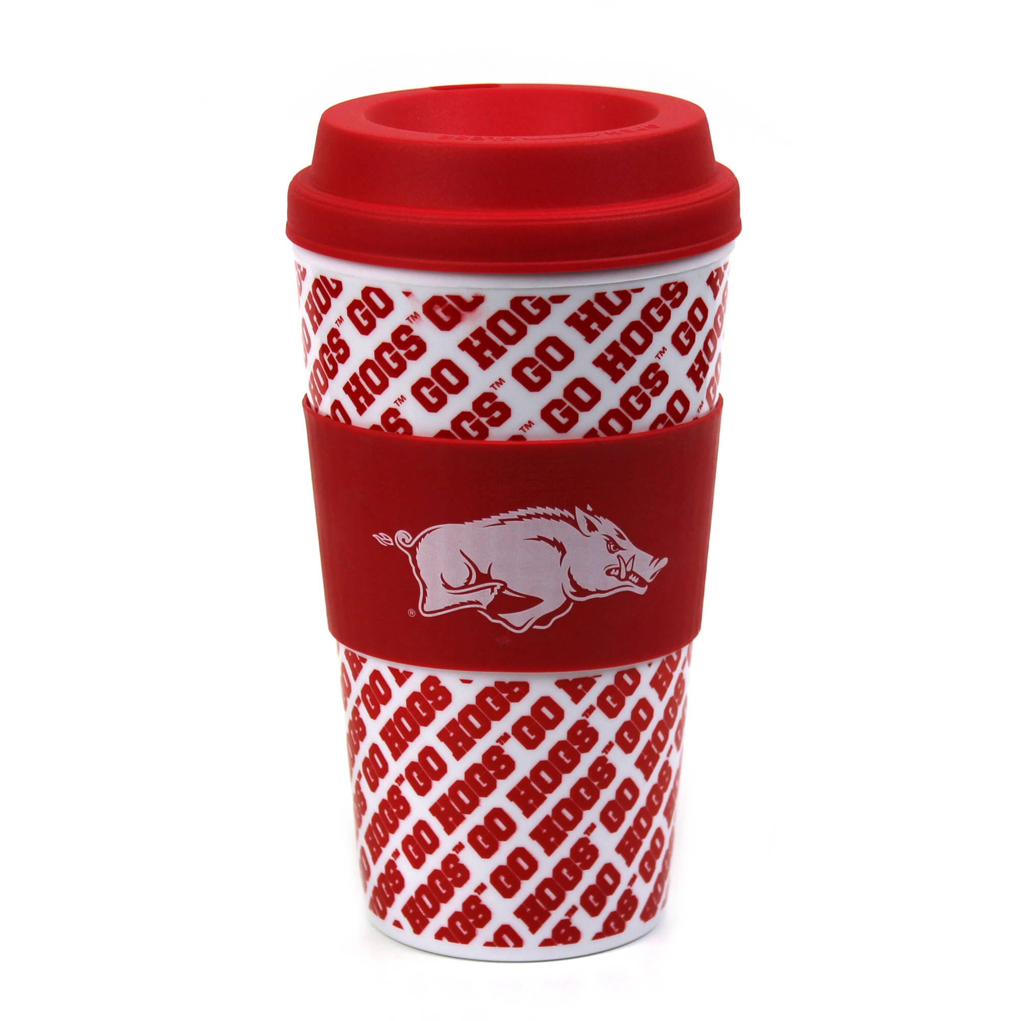 NCAA Arkansas 16 oz Coffee Mug with Grip