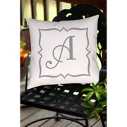 Thumbprintz Silver Script Monogram Decorative Pillows