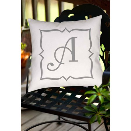 Thumbprintz Silver Script Monogram Decorative Pillows ()