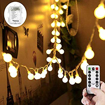 33ft 100 Leds Battery Operated String Lights Globe Fairy Lights With Remote Control For Outdoor Indoor Bedroom Garden Christmas Tree 8 Modes Timer Warm White Walmart Com Walmart Com