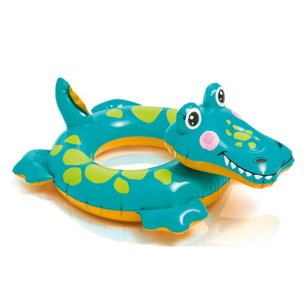 Floating Gator (Intex Big Animal Swim Ring Kids Pool Float Tube- Alligator)