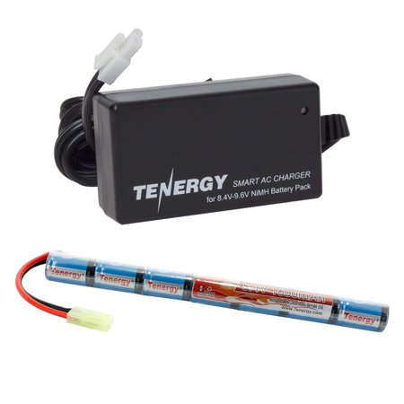 - Tenergy Airsoft Battery 8.4V 1600mAh NiMH Stick Battery High Performance Stick Style Batteries w/ Mini Tamiya Connector, Replacement Battery for Airsoft Rifle AEG Guns + 8.4V-9.6V NiMH Battery Charge