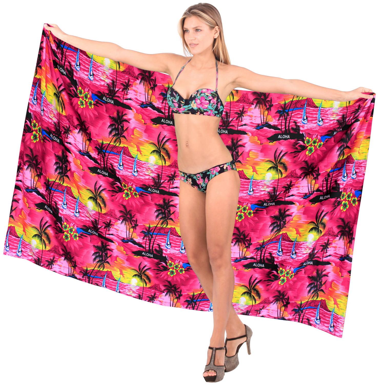 da14724776 HAPPY BAY - Sarong Swimsuit Swimwear Beach Cover ups Printed Pareo Cadmium  Red Plus Size - Walmart.com