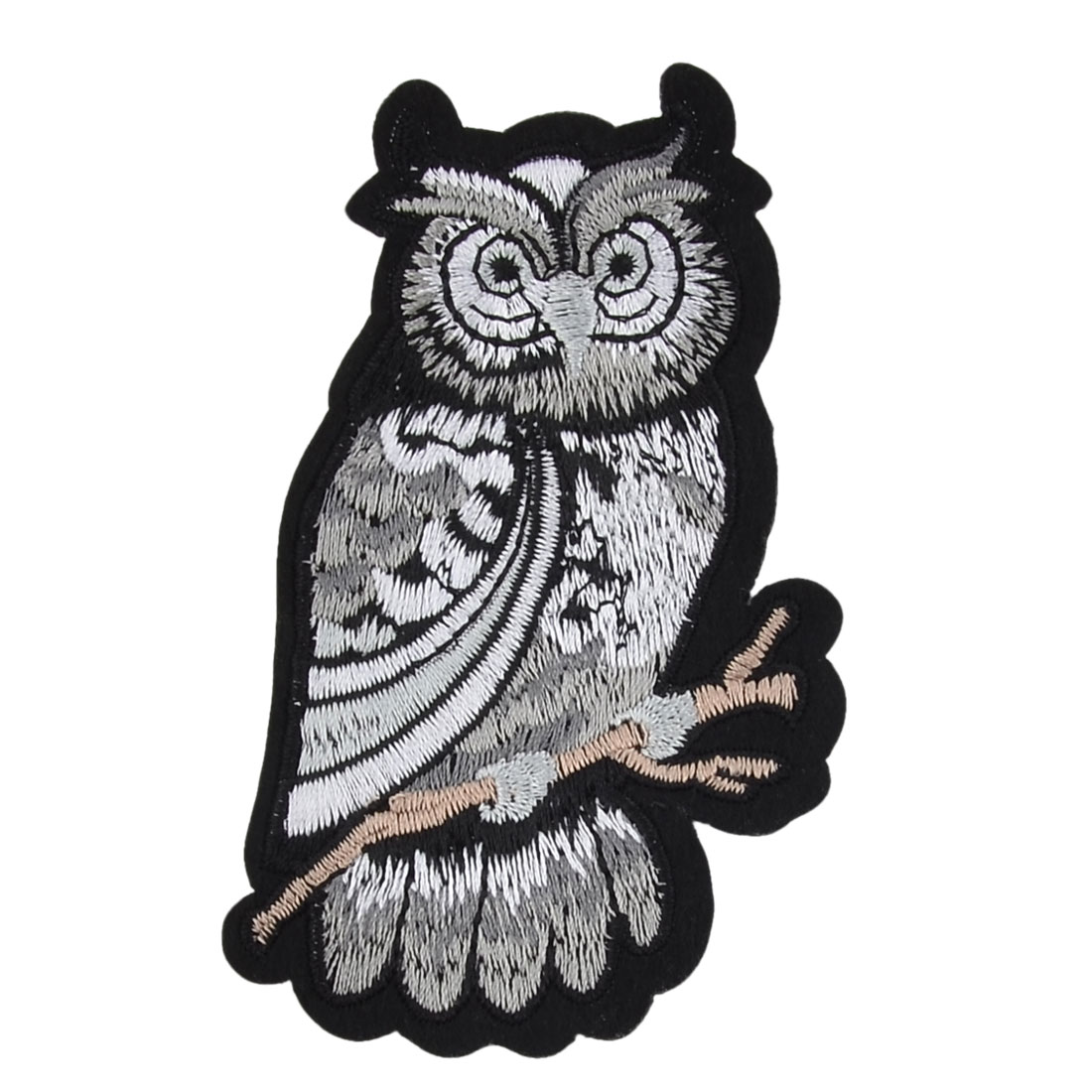Unique Bargains Polyester Owl Design DIY Sewing Trimming Hag Decorative Lace Applique Black
