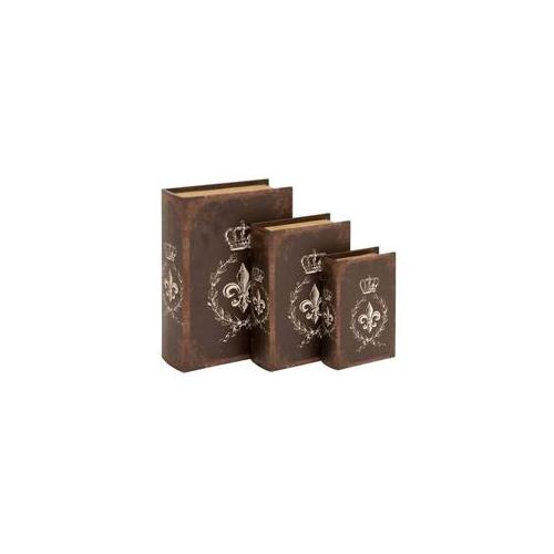 Woodland Import 54193 Book Box in Traditional Style Bound - Set of 3