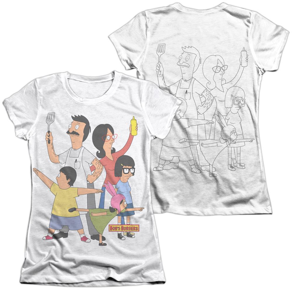 TeeShirtPalace Sublimation Front//Back BOBS Burgers Hero Pose All Over Print T-Shirt
