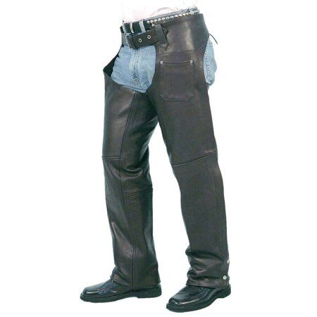 Naked Leather Chaps with Lining #C5050N](Naked Suit)
