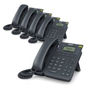 5 Pack Yealink SIP-T19P-E2 Entry-Level IP Phone