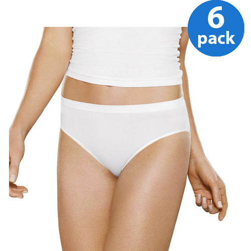 Fruit of the Loom Women's Seamless Low Rise Brief, 6 Pack