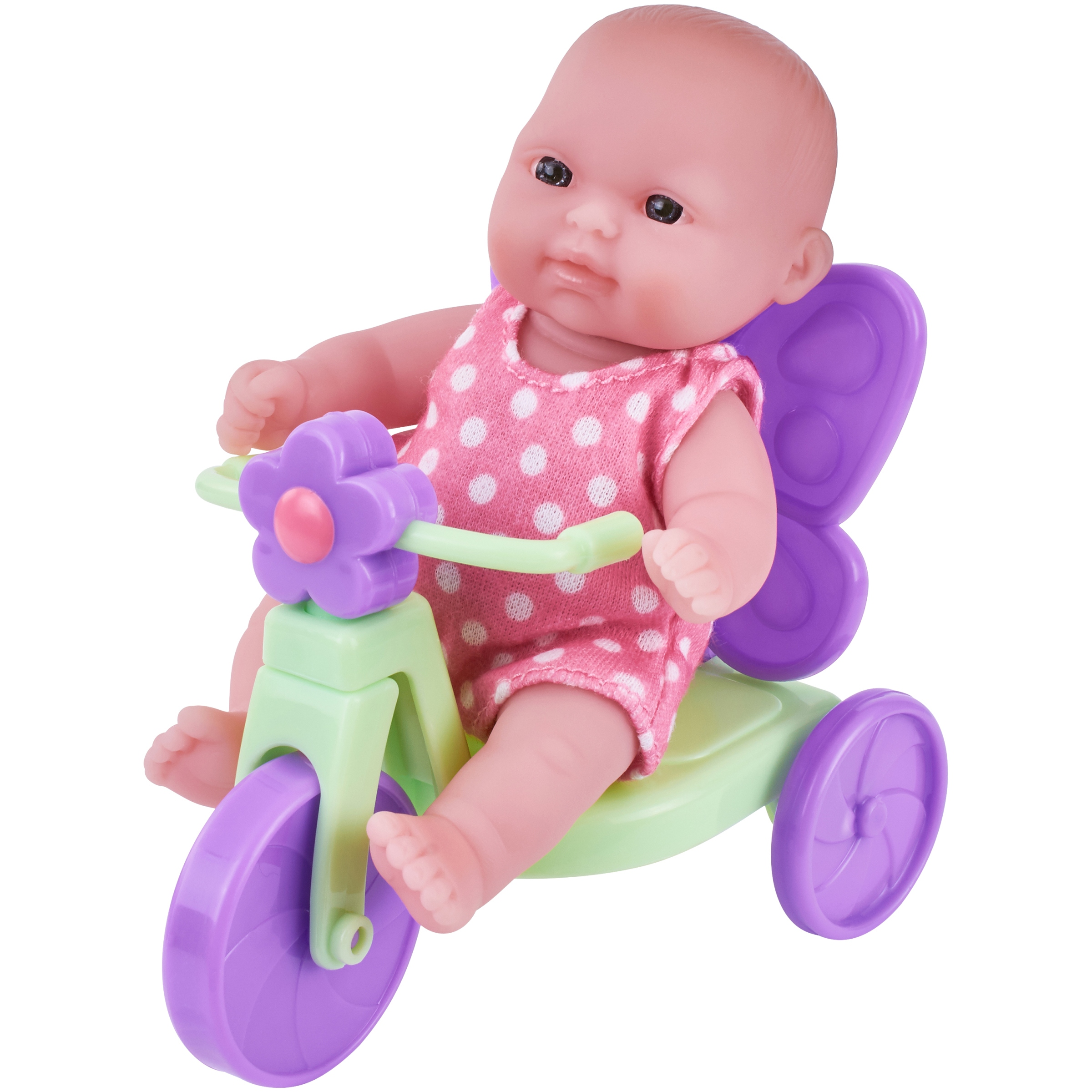 "My Sweet Love Lots to Love 5"" Baby Doll with Outfit and Mini Tricycle"