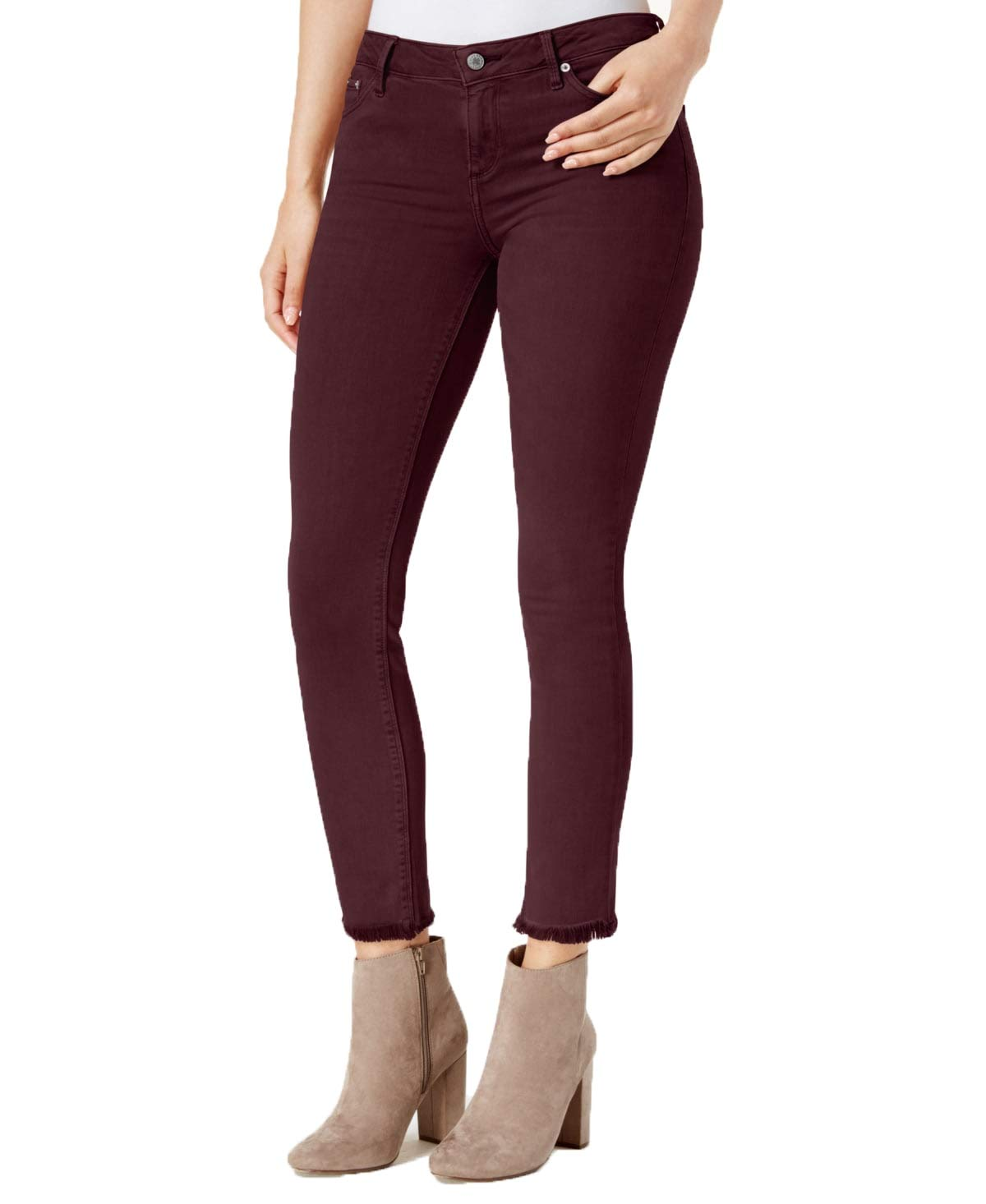 Womens Stretch Lolita Fray Skinny Jeans 0