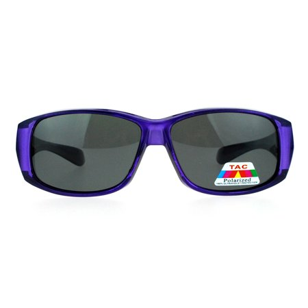 SA106 Polarized Anti Glare Womens Fitover OTG 57mm Sunglasses Purple ()