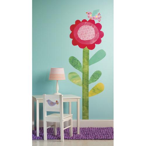 "Wallies Peel & Stick Big Flower Growth Chart, 2 sheets 19"" x 25"""
