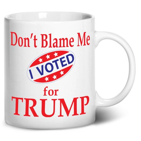 Tenacitee Voted for Trump Coffee Mug, 11oz, White - White Coffee Mugs