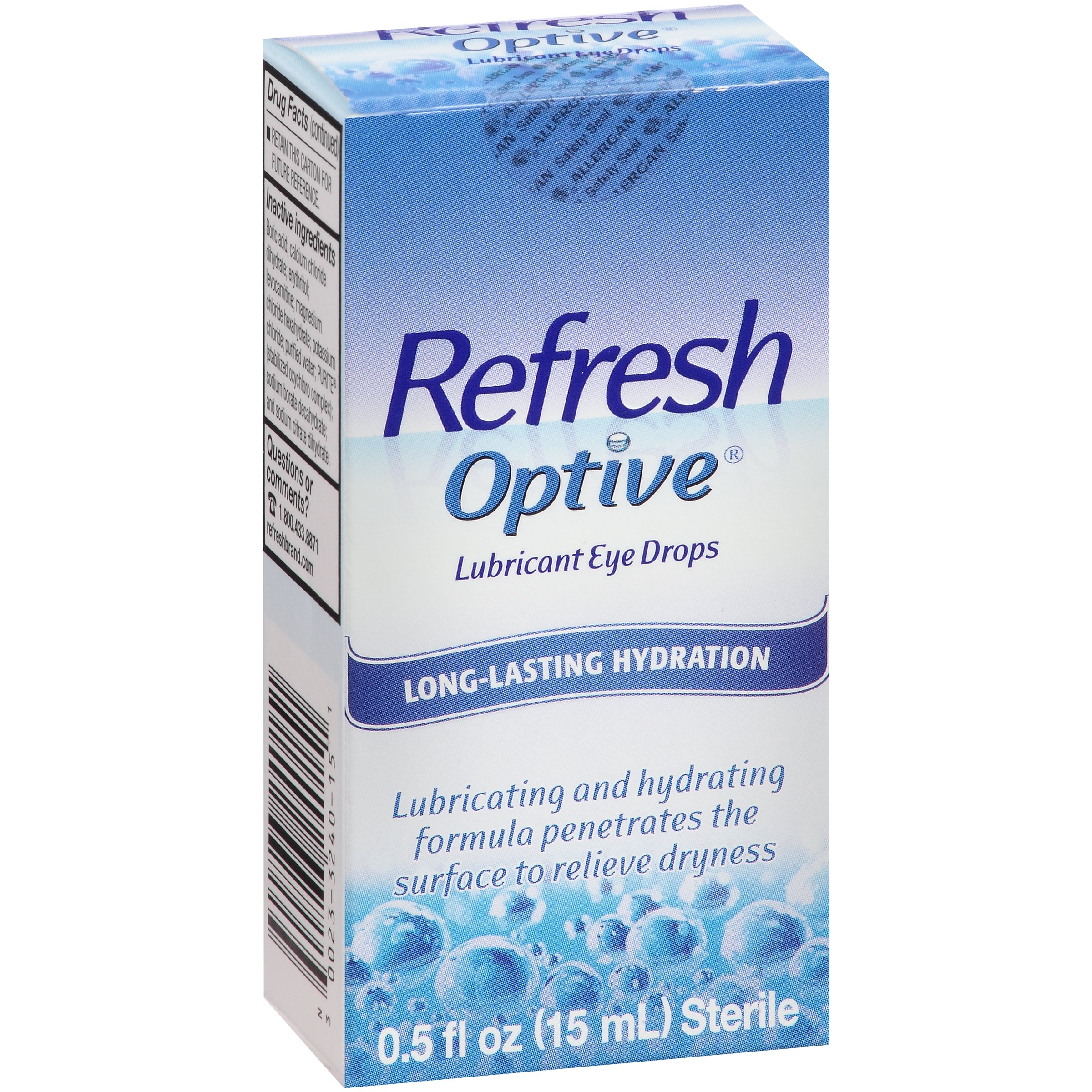 Refresh Optive® Lubricant Eye Drops 0.5 fl. oz. Box