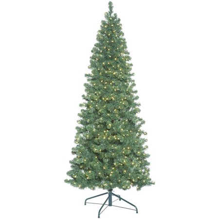 Vickerman 9 Oregon Fir Slim Artificial Christmas Tree With 900 Warm White Led Lights