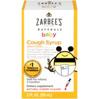 Zarbee's Naturals Baby Cough Syrup with Agave & Thyme, Natural Cherry 2 fl oz
